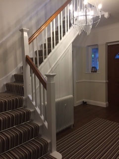 Recently fitted stair runners