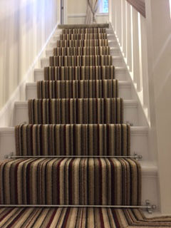 cambridge striped stair runner close up