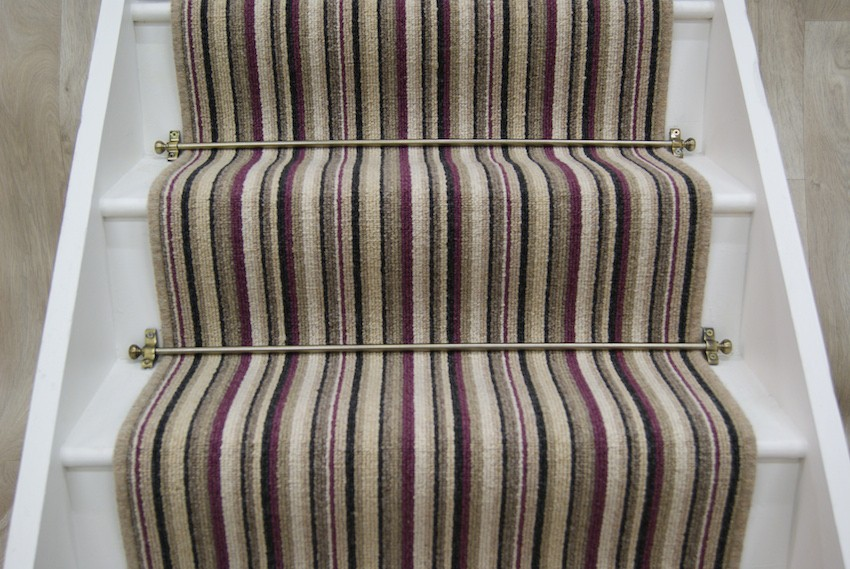 Bridge Raspberry Stripe Stair Runner 7x065m Stairrunners Direct
