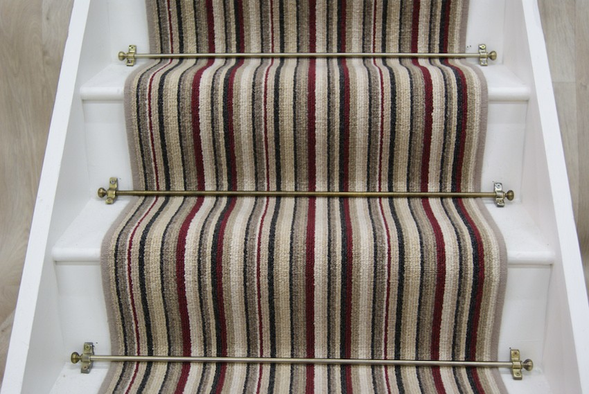 cambridge red stripe stair runner 7m x 065m